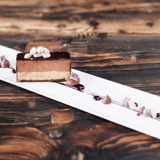Valrhona sjokoladekake med hasselnøttkrem